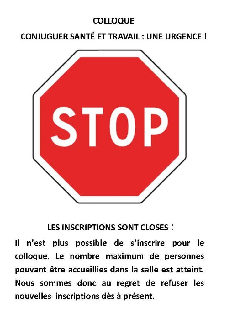 Fin Des Inscriptions Au Colloque Conjuguer Sante Et Travail Une Urgence Association Souffrance Au Travail 34
